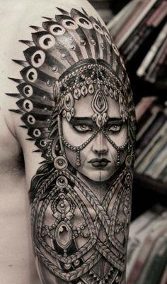 Beautiful work from Anderson Luna, Saved Tattoo, Brooklyn