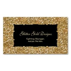 Glitter Gold Elegance Business Cards. This is a fully customizable business card and available on several paper types for your needs. You can upload your own image or use the image as is. Just click this template to get started!