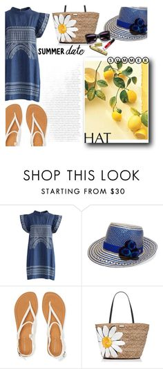 """Summer hat"" by r-dereli ❤ liked on Polyvore featuring Chicwish, YOSUZI, Aéropostale, Kate Spade and summerhat"