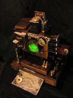How a steampunk sends a text.