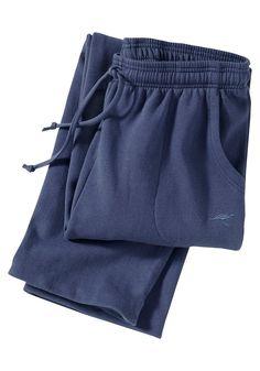 Lässige Hose zum Wohlfühlen in Sweatqualität! Super bequem. Mit seitlichen Eingrifftaschen und kleiner KangaROOS®-Stickerei. Gummizug und Kordel im Bund.  60% Baumwolle, 40% Polyester....