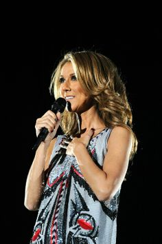 Celine Dion in Tokyo during the Asian leg of her Taking Chances world tour last 2008