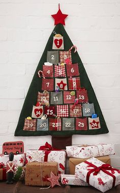 Country Christmas Advent Calendar Tree