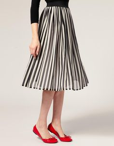 ASOS | Stripe Midi Skirt