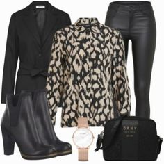 Marco tozzi - outfit- winter-outfits bei Classy Outfits, Casual Outfits, Blue Jeans, Winter Outfits, Business Outfit, Blazer, Spring And Fall, Polyvore, Chic Outfits