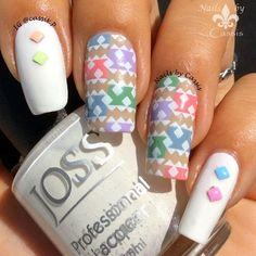 Nails by Cassis: Pastel Tribal Mani Using FUN 15