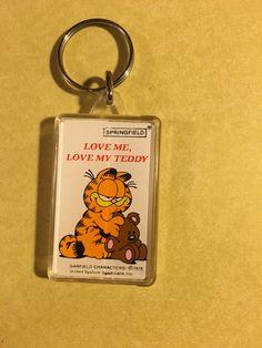 Garfield rubbery Keychain Paws 1994 vintage