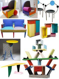 Furniture 1981 Memphis Furniture Furniture Trends Furniture 80 S Furniture Memphis Design Furniture Group Furniture Furniture Memphis Furniture, 80s Furniture, Design Furniture, Unique Furniture, Painted Furniture, Crea Design, Art Et Design, 80s Design, Design Ideas