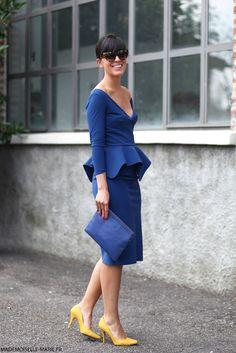 Slate blue + marigold