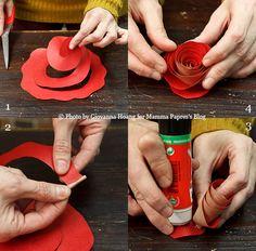 DIY Paper rose for a romantic San Valentine - Decorazioni per San Valentino-Tutorial rosa di carta