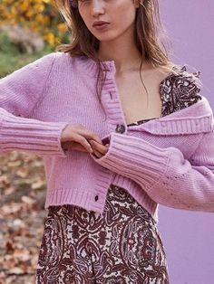 Lose Long Sleeve Solid Color Hollow Out Knit Short Cardigan Sweater Outwear 52715619c
