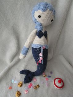 MICI the mermaid made by Sarah N. / crochet pattern by lalylala