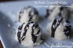 No Bake Coconut Delights (sugar, dairy, egg, and grain free)