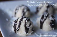 No Bake Coconut Delights (sugar, dairy, egg & grain free)