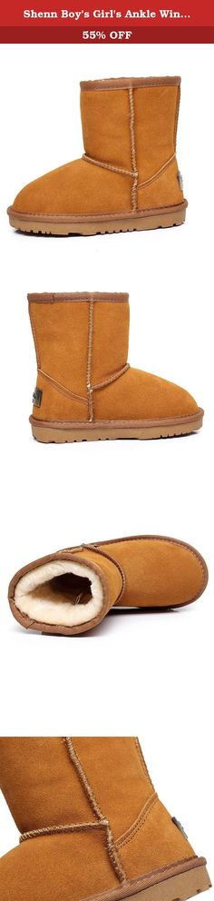 Shenn Boy's Girl's Ankle Winter Warmers Cute Comfort Snow Boots TD1025(Tan,Little Kid US2.5). For Seasons:Winter,Autumn Design,so fashion, cool easy to wear Rubber sole ,more comfortable Since we are an international transaction, our shoes may run larger or smaller than the standard sizes you are used to. It is best to chose the correct size from our product description before ordering. US11=18.5CM insole length(CN29) US11.5=19.5CM insole length(CN30) US12=19.5CM insole length(CN30)...