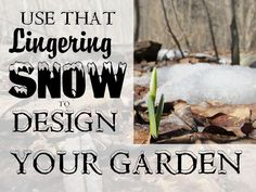 Spring snow can be a design tool, as Kathy Purdy of Cold Climate Gardening attests. Just use it to design your garden.    @kopurdy