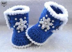New knitting baby clothes how to Ideas Knit Baby Shoes, Crochet Baby Boots, Crochet Baby Clothes, Baby Booties, Knit Crochet, Knitting For Kids, Crochet For Kids, Baby Knitting, Baby Slippers