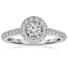 Round Cut Diamond Engagement Rings Halo