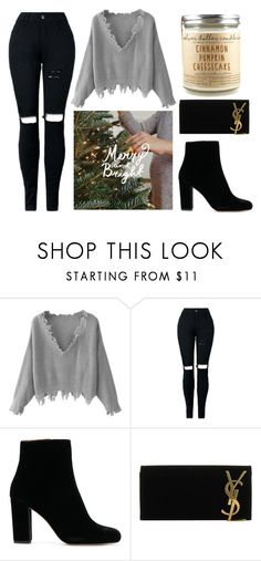 """Let it snow"" by aestheticgrace2002 ❤ liked on Polyvore featuring Yves Saint Laurent and Christmas"