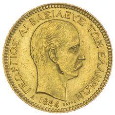 20 Drachmen 1884 A Griechenland Georg I. 1863 - 1913