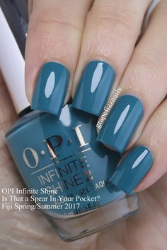 I have the brand new opi infinite shine fiji collection for spring/summer 2017 to show you today! Spring Nails, Summer Nails, Nails Summer Colors, Cute Nails, Pretty Nails, Opi Nail Colors, Nagellack Trends, Opi Nails, Nails 2017