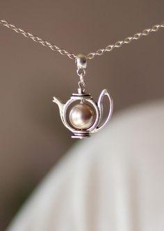 Gray Pink Pearl Teapot Pendant, Teapot Pendant, Pearl Teapot Pendant,Teapot Necklace,Teapot Jewelry,Cute Jewelry,For Tea Lovers,Swarovski by NaTavelli on Etsy https://www.etsy.com/listing/223551827/gray-pink-pearl-teapot-pendant-teapot