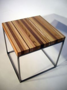 Hardwood Cut-offs Cube Side Table 18x18x18. $215.00, via Etsy.