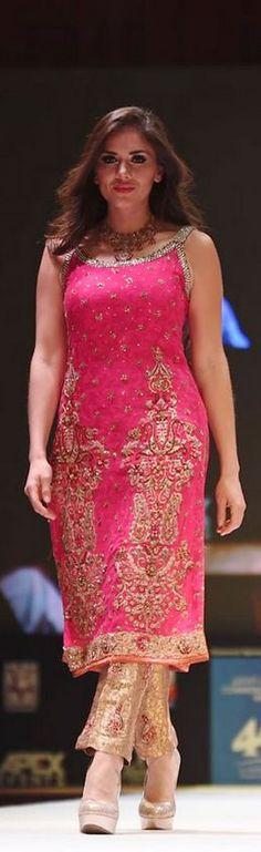 Uzma Babar Bridal Collection at International Fashion Festival Doha #bridaldresses #weddingdresses #bridalcollections