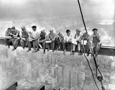 vintage everyday: Lunch Atop a Skyscraper: The Story Behind the Famous Shot in…