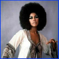 The Afro is a symbol of Black pride and a woman's crown & glory! singer and novelist, Marsha Hunt's afro was the epitome of soul an. Black Power, African American Models, Gil Scott Heron, Afro Textured Hair, Young Black, Grunge Hair, Black Models, Afro Hairstyles, Beautiful Black Women