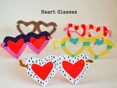 Two Heart themed Valentine's Crafts- Heart Glasses and Painted Heart Rocks