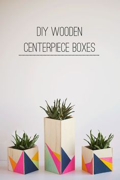 diy: wooden centerpiece boxes | http://tellloveandchocolate.com