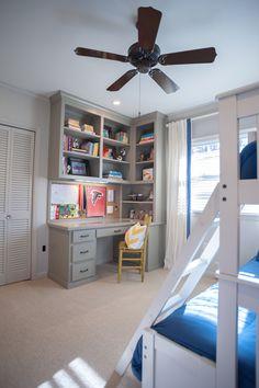 Trendy Bedroom Desk Area Built Ins Ideas Corner Bookshelves, Desk Shelves, Bookshelf Storage, Wood Shelves, Office Storage, Floating Shelves, Painted Bookshelves, Bookcase Desk, Playroom Storage