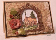 Heartfelt Creations | Burgundy Church