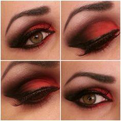 Red Smokey eye.