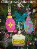 Gold Frankincense Myrrh Cutout Ornaments Three wise Men