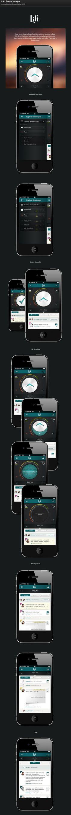Lift: Early Concepts #UI #UX #Mobile #Application
