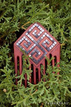 Comb with hematite by pagan-art.deviantart.com on @deviantART
