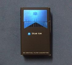 Embalagem de Marlboro Blue Ice Marlboro Blue, Tokyo Ghoul Drawing, Black Cigarettes, Cigarette Aesthetic, Daily Makeup Routine, Smoking Kills, Smoke Photography, Cigarette Box, Night Life