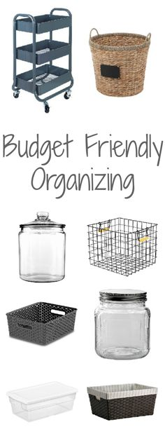 There are so many expensive organizing items out there. Love these one that are a little more budget friendly.