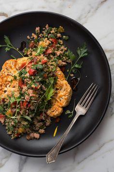 Vegan Vegetarian, Vegetarian Recipes, Healthy Recipes, Sin Gluten, Gluten Free, Salad Bowls, My Recipes, Cauliflower, Food Photography