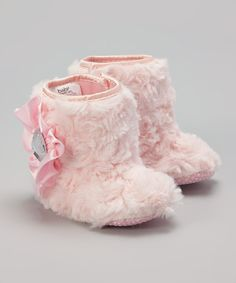 Love this Pink Faux Fur Booties by  on #zulily! #zulilyfinds