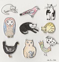 Owl and woodland illustration
