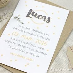 """Invitación Primera Comunión - """"ESTAMPADO"""" 