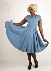 Original 1940s Powder Blue Swing Dress from Upstaged Vintage