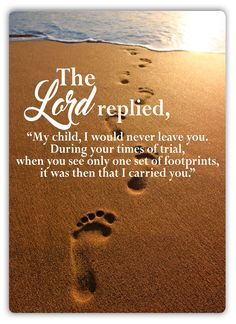 Footprints In The Sand Quote -Metal Wall Sign Plaque Art- Lord Prayer Church God Footsteps Quote, Footsteps In The Sand, Footprints In The Sand Poem, Sand Quotes, Bible Verses Quotes, Faith Quotes, Thank God Quotes, Jesus Christ Quotes, King James Bible Verses