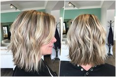 The Bend Salon • Barber - Webster Groves, MO - A wavy textured lob is the perfect easy style for hot summer days! Cut & style by Sara.