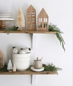 Christmas, christmas decor inspo, neutral christmas, modern christmas style, holiday home decor, merry christmas, holiday home, wood gingerbread houses, cheistmas shelves, christmas kitchen Christmas Style, Christmas Home, Merry Christmas, Hand Painted Ornaments, Glass Ornaments, Country Girl Home, Framed Tv, Metal Lanterns, Bottle Brush Trees
