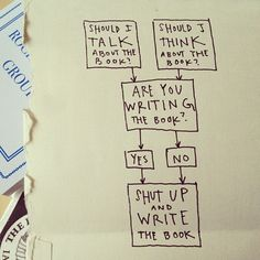 Handy flowchart for writing a book: by Austin Kleon, via Flickr