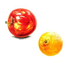 Photo And Video, Orange, Fruit, Instagram, Drawing, Illustration, Painting, Painting Art, Drawings